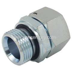 Metric Female 24 Deg / Bsp Male Double 60 Deg Hydraulic Hose Adapter