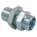 SV Bulkhead Union 6C/6D Hydraulic fittings Metric MALE straight bulkhead adapter