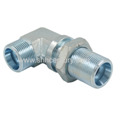 WSV Hydraulic elbow bulkhead adapter