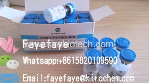 Somatropin and kirotropin HGH 191aa injectable 99% purity usa warehouse and china factory