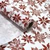 flowers glitter printed ramie cotton roll