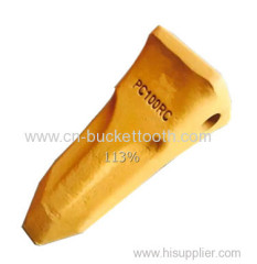 Komatsu PC100 excavator bucket teeth rock chisel style