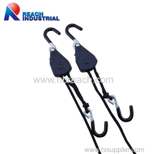"1/8"" Rope Ratchet Light Hanger with Coat s Hook"