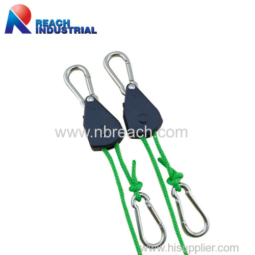 "1/8"" Rope Ratchet Light Hanger with Carabiner Hook"