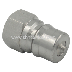SS304 Stainless Steel Hydraulic And Pneumatic Quick Disconnect Coupler Quick Connect Coupling