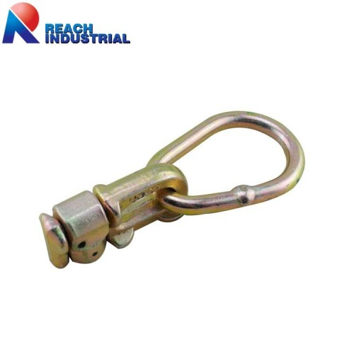 Logistic Track Double Stud Fitting with Pear Ring