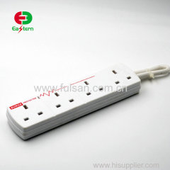4 Way Universal Electric Extension Socket Independent Switch Power Strip