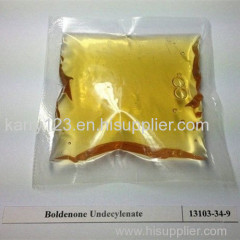 99% Purity Boldenon Steroid Boldenon Undecylenate/EQ yellow liquid CAS NO 13103-34-9
