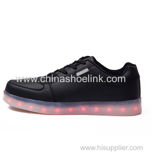 Men skateboard shoes with LED lights sneakers seller