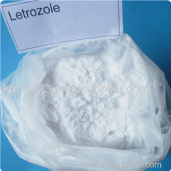 99% White Letrozole Anti estrogen Steroids CAS 112809-51-5 Breast Cancer Treatment