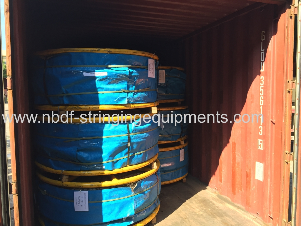 Anti twisting braided steel wire rope exported for 500KV transmission line stringing