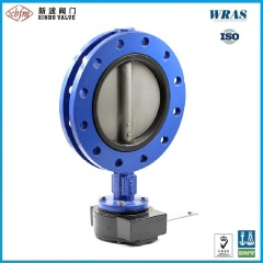 U Flanged Type Backed Seat Butterfly Valve