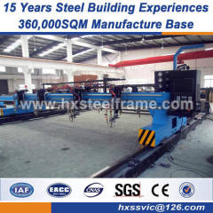 structural fabrication lightweight steel buildings Q235 Q345B material
