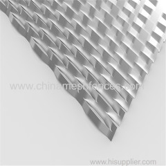Diamond Shape Raised Expanded Metal Sheet Mesh for facade(Factory)