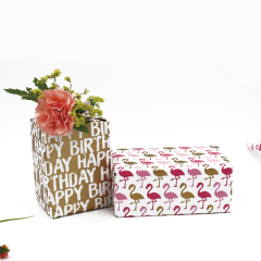 glossy gift paper flower wrapping