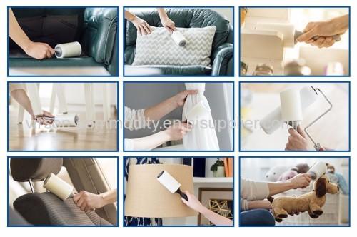 Paper Sheet Sticky Long Handle Lint Roller