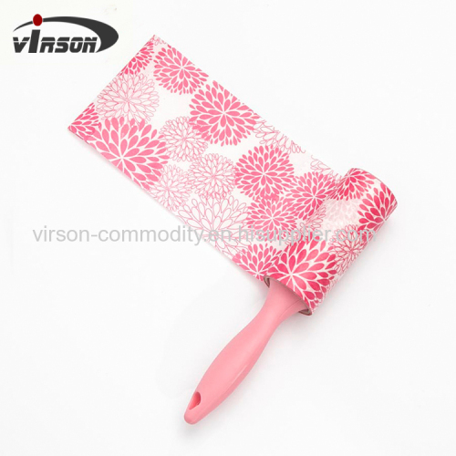 Custom Colorful Portable Travel Size Sticky Lint Roller with PP material handle