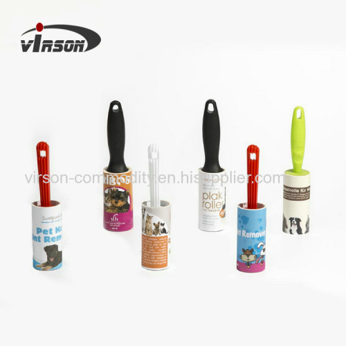 Adhesive pick up printed sheet lint roller sticky lint remover