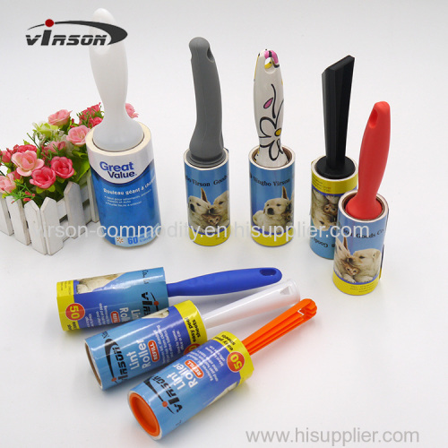 Eco-friendly fashionale handle printed paper sticky lint roller