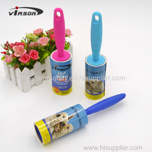 60 Layers Sticky Disposable Paper Tearing Lint Roller For Dust Remover