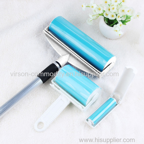 Reusable manual carpet clothes furniture washable clean plastic custom sticky pet hair remover lint roller