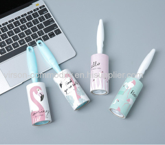 Mini Sticky Home Cloth Cleaning Good Quality Lint Roller With Coloured Wrapping Paper