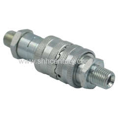 Ball Valve Type Hydraulic Torque Wrench Quick Disconnect Coupling With Teeth Lock