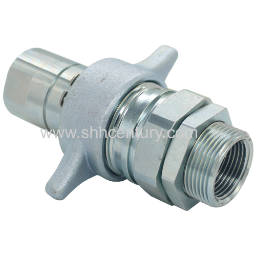 Dump Tracks Thread Type Hydraulic Quick Coupling