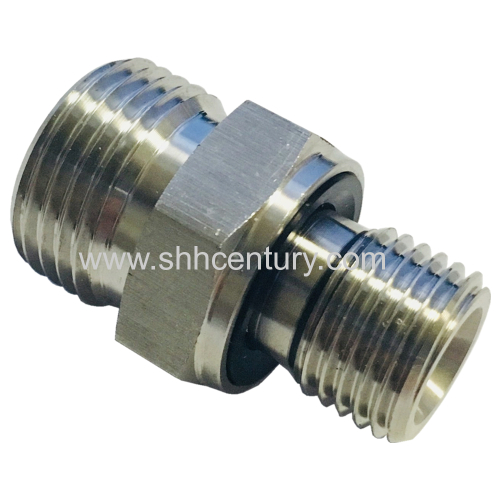 Stainless Steel Hydraulic Adapter Male Thread Metric To BSP Pipe Connector