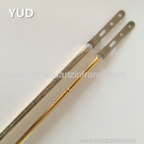 Factory custom Single Tube Halogen Infrared Lamp with Gold Reflector