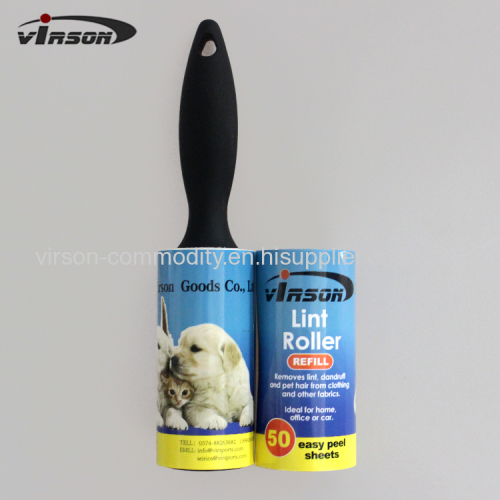 Plastic Handle Sticky Pet Hair Disposible Lint Roller