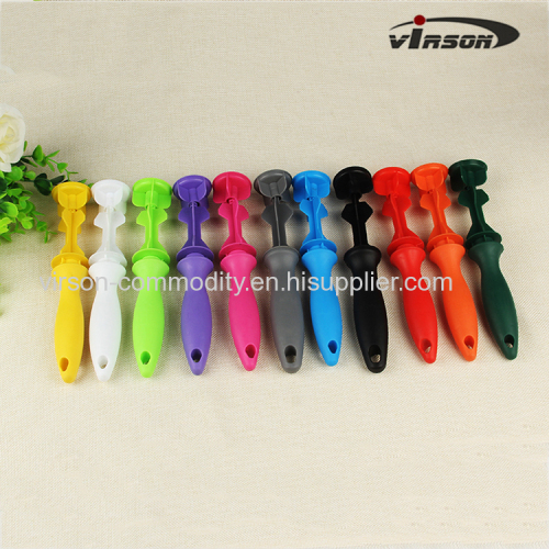 Plastic Vertical Carved Handle