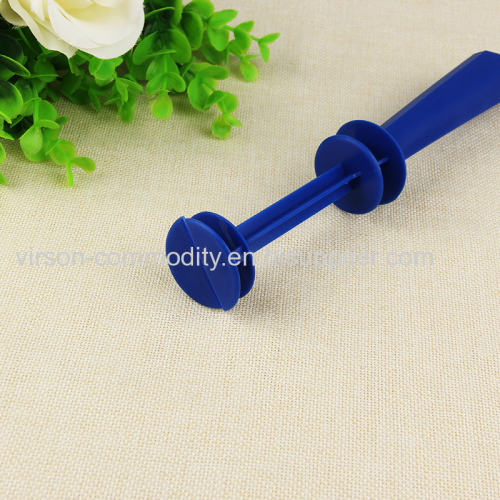 Vertical Carved Triangular Prism Plastic Handle