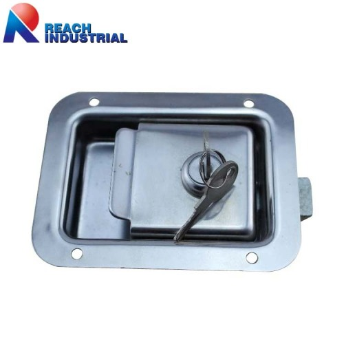 Polished Stainless Steel Recessed Paddle Lock