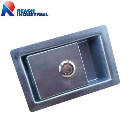 Zinc plated Excavator Recessed Paddle Handle lock