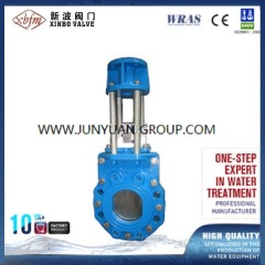 Ductile Iron Knife Gate Valve with Handwheel Operated