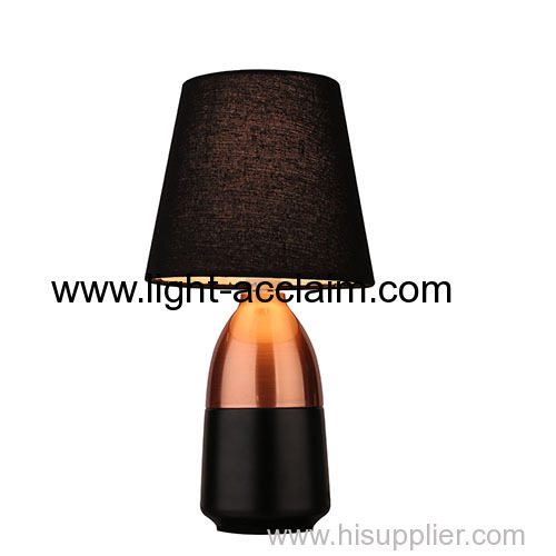 Metal fabric table lamp Wood metal chandelier commercial led lighting