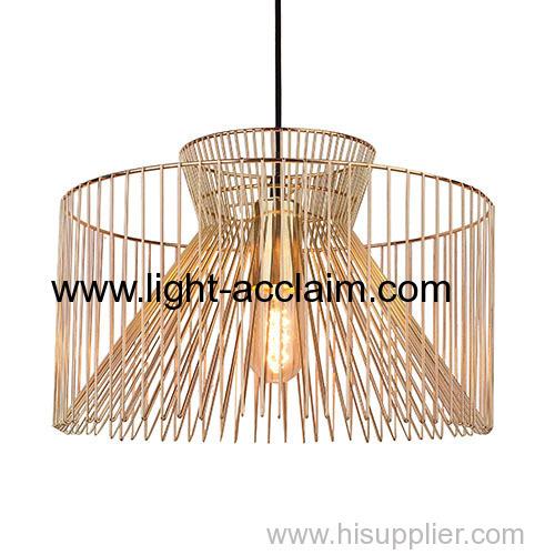 Metal wire chandelier Edison light bulb