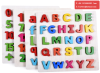 Wooden Educational toy English Alphabet digital learning puzzle wood letters figures for preschool kids Wooden Toy