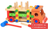 Kid Wooden Toys Educational Wooden Baby Toy Disassembly Screw Nut Vehicle Car Knock