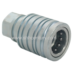 Metric Thread Carbon Steel Hydraulic Quick Connect Couplings For Tractor Pull-Push Type