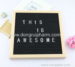 10x10 felt letter board with letters stand and cotton bag