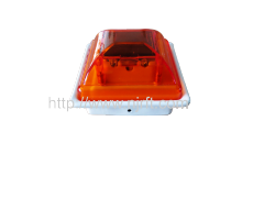 Red traffic warning lights for guardrails