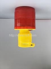 Red dynamic high temperature waterproof solar warning light traffic warning lights