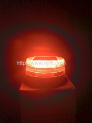 6 led red and blue safety strobe blinking warning lights