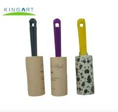 Multi-colorful Sticky Clothes Cleaning lint roller with handle