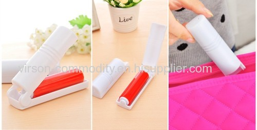 Plastic travel foldable pocket silicone sticky washable min lint roller