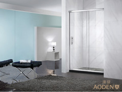 China Bathroom Tempered Glass Aluminum Framed Door Simple Shower Screen