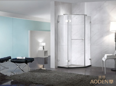 Frameless Shower Enclosure Simple Style Shower Room with Diamond Shape Shower Cabin for Home