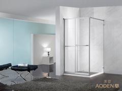 Square Bathroom Corner Sliding Tempered Glass Simple Shower Room